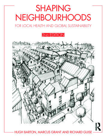 shaping neighbourhoods