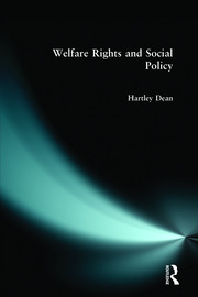 Welfare Rights and Social Policy - 1st Edition book cover