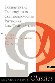 Experimental Techniques In Condensed Matter Physics At Low Temperatures - 1st Edition book cover