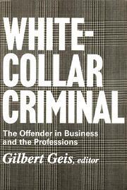 White-collar Criminal - 1st Edition book cover