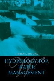 Hydrology for Water Management - 1st Edition book cover