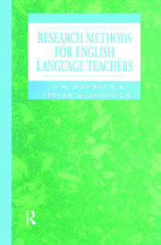 Research Methods for English Language Teachers - 1st Edition book cover