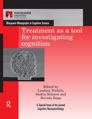 Treatment as a tool for investigating cognition - 1st Edition book cover