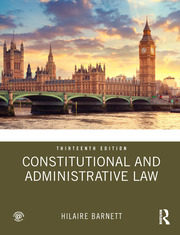 Constitutional and Administrative Law - 13th Edition book cover