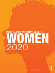 International Who's Who of Women 2020 - 12th Edition book cover