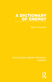 A Dictionary of Energy - 1st Edition book cover