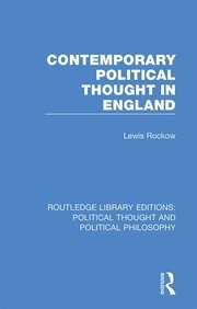 Contemporary Political Thought in England - 1st Edition book cover