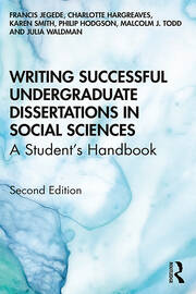 Writing Successful Undergraduate Dissertations in Social Sciences : A Student's Handbook - 2nd Edition book cover