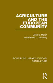 Agriculture and the European Community - 1st Edition book cover
