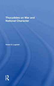Thucydides On War And National Character - 1st Edition book cover