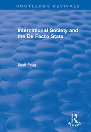 International Society and the De Facto State - 1st Edition book cover