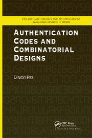 Authentication Codes and Combinatorial Designs - 1st Edition book cover