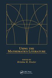 Using the Mathematics Literature - 1st Edition book cover