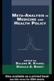 Meta-Analysis in Medicine and Health Policy - 1st Edition book cover