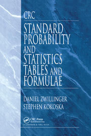 CRC Standard Probability and Statistics Tables and Formulae - 1st Edition book cover