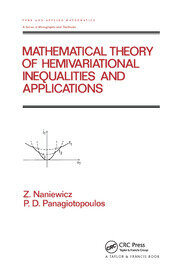Mathematical Theory of Hemivariational Inequalities and Applications - 1st Edition book cover