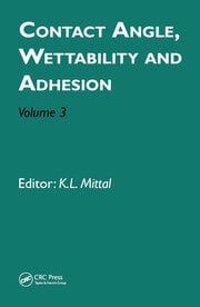 Contact Angle, Wettability and Adhesion, Volume 3 - 1st Edition book cover