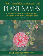 CRC World Dictionary of Plant Names - 1st Edition book cover