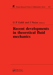 Recent Developments in Theoretical Fluid Mechanics - 1st Edition book cover