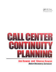 Call Center Continuity Planning -  1st Edition book cover
