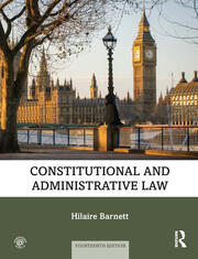 Constitutional and Administrative Law - 14th Edition book cover