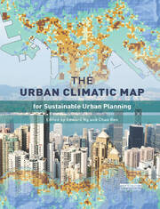 The Urban Climatic Map : A Methodology for Sustainable Urban Planning - 1st Edition book cover