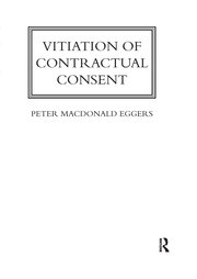 Vitiation of Contractual Consent - 1st Edition book cover