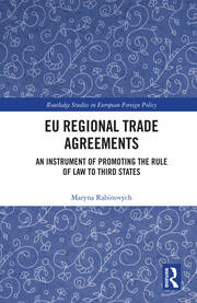 EU Regional Trade Agreements - 1st Edition book cover