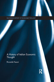 A History of Italian Economic Thought - 1st Edition book cover