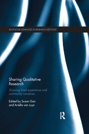 Sharing Qualitative Research - 1st Edition book cover