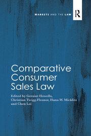 Comparative Consumer Sales Law - 1st Edition book cover