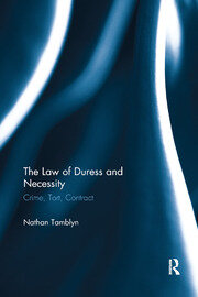 The Law of Duress and Necessity - 1st Edition book cover