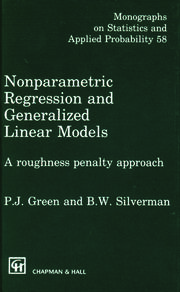 Nonparametric Regression and Generalized Linear Models: A roughness penalty approach