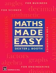 Maths Made Easy - 1st Edition book cover