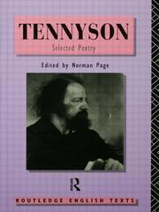 Tennyson: Selected Poetry - 1st Edition book cover