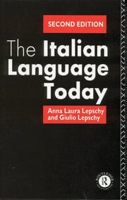 The Italian Language Today - 2nd Edition book cover