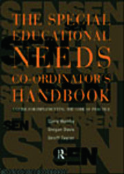 The Special Educational Needs Co-ordinator's Handbook - 1st Edition book cover