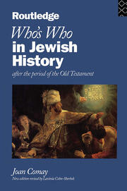 Who's Who in Jewish History - 1st Edition book cover