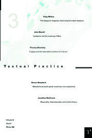 Textual Practice 10.3 - 1st Edition book cover