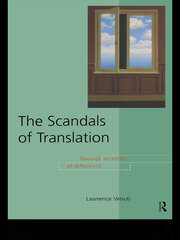 The Scandals of Translation - 1st Edition book cover