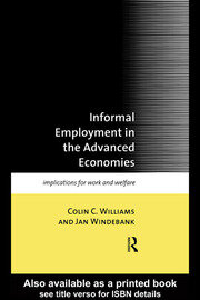 Informal Employment in Advanced Economies - 1st Edition book cover