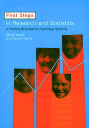 First Steps In Research and Statistics - 1st Edition book cover