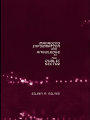 Managing Information and Knowledge in the Public Sector - 1st Edition book cover