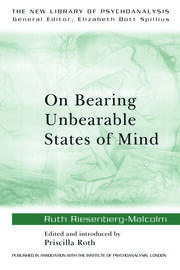 On Bearing Unbearable States of Mind - 1st Edition book cover