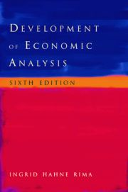 Development of Economic Analysis - 6th Edition book cover