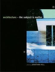 Architecture - 1st Edition book cover
