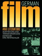 German Film & Literature - 1st Edition book cover