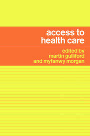 Access to Health Care - 1st Edition book cover