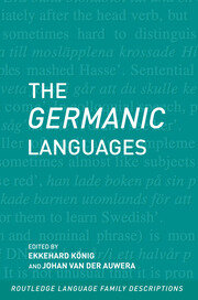 The Germanic Languages - 1st Edition book cover