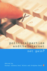 Political Parties and the Internet - 1st Edition book cover
